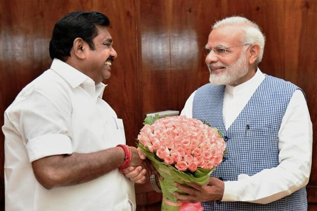 This was the second meeting since last month between Palaniswami and Narendra Modi  where AIADMK leader took up the issue of exempting the state from NEET. Photo: PTI