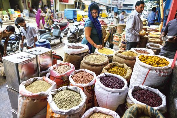 According to the Economic Survey, CPI inflation declined to 4.5% during 2016-17, with a broad-based price decline in all major commodity groups. Photo: Bloomberg