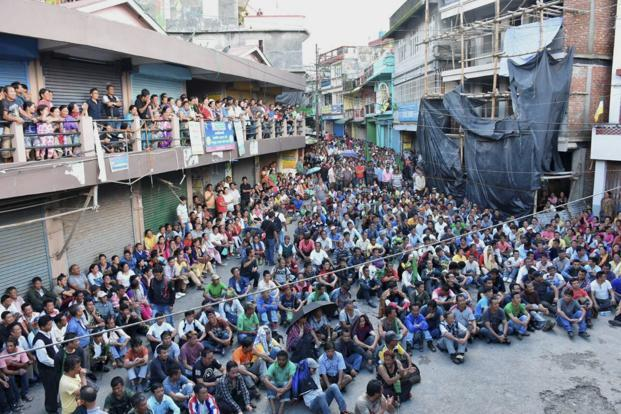 The situation in Darjeeling remained tense but incident-free. Photo: PTI