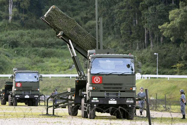 Japan says it is deploying the Patriot Advanced Capability-3 (PAC-3) system in Shimane, Hiroshima and Kochi in western Japan , after North Korea threatened to fire ballistic missiles over the country towards the US Pacific territory of Guam. Photo:  Reuters