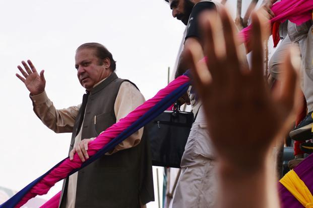 A five-member Pakistan Supreme Court bench last month disqualified Nawaz Sharif for dishonesty and ruled that corruption cases be filed against him and his children over the Panama Papers scandal, forcing the PM to quit for the record third time. Photo: AFP