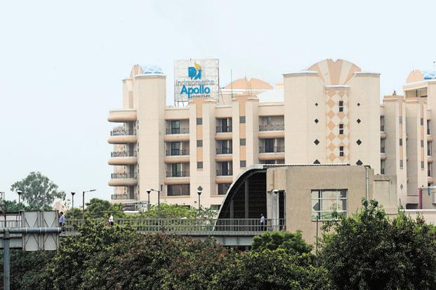 Apollo Hospitals had reported a net profit of Rs72.17 crore for the corresponding period of previous fiscal. Photo: Mint