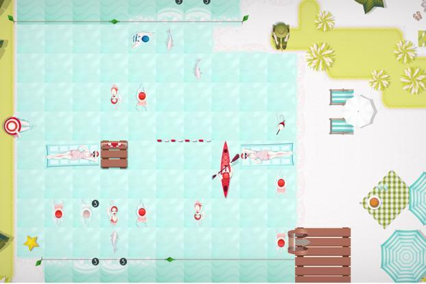 Swim Out is a unique puzzle game which revolves around swimming.