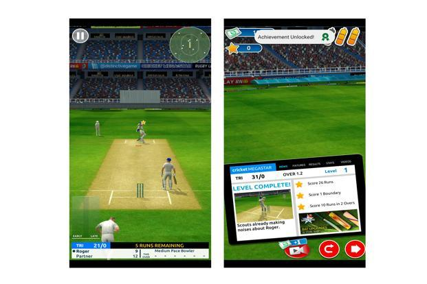 'Cricket Megastar' is a batting-oriented game and doesn't offer the option to bowl or play in a tournament.