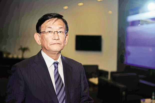 A file photo of Maruti Suzuki India managing director and chief executive officer Kenichi Ayukawa. Photo: Pradeep Gaur/Mint