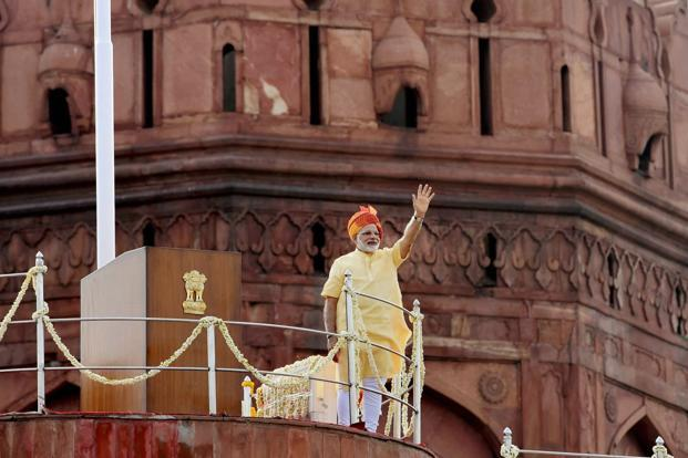 Prime Minister Narendra Modi, in his Independence Day speech, signalled a softer approach in dealing with the people Jammu and Kashmir, while adopting a hardline approach to terrorism. Photo: PTI