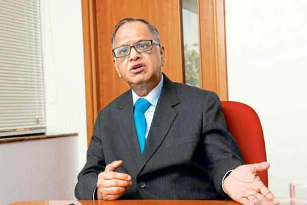 If things remain the way they are, Narayana Murthy and his strained relationship with the Infosys board would be a big risk factor, as the company had alluded to two months ago in a statutory filing. Photo: Aniruddha Chowdhury/Mint