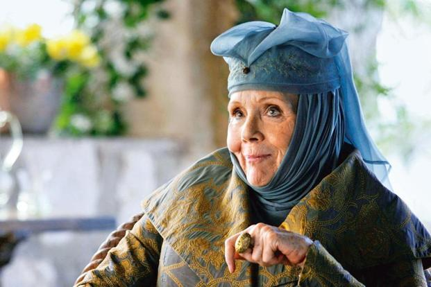 Diana Rigg as Olenna Tyrell in 'Game Of Thrones'.
