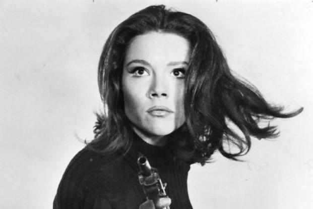 Diana Rigg as Emma Peel in the TV series 'The Avengers' (1965-68).