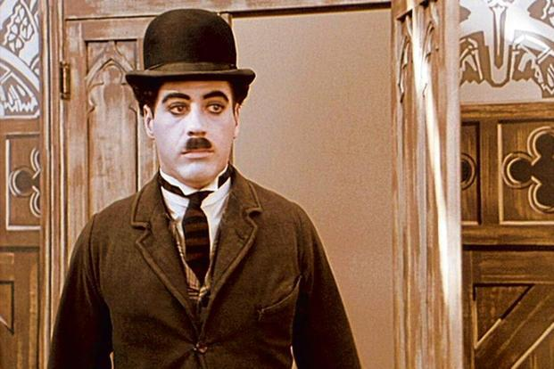 Robert Downey Jr as Charlie Chaplin in 'Chaplin'.