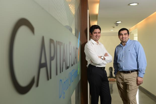 A file photo of Capital Float founders Sashank Rishyasringa (left) and Gaurav Hinduja. Photo: Hemant Mishra/Mint