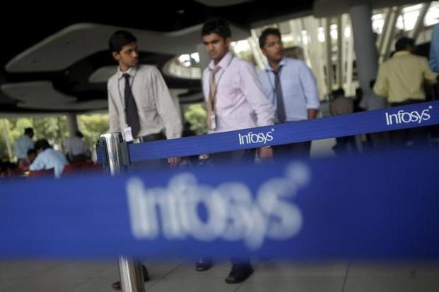 Infosys shares fell over 5% on Monday, taking the fall in market capitalisation to as much as $5.3 billion since Vishal Sikka quit his position as chief executive officer last Friday. Photo: PTI