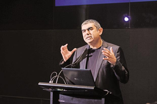 "On 18 August, Vishal Sikka stepped down as Infosys's first non-founder CEO, citing ""unrelenting, baseless/malicious and increasingly personal attacks"". Photo: Hemant Mishra/Mint"