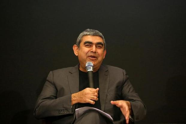 At least nine brokers downgraded their ratings on the Infosys stock after the resignation of CEO Vishal Sikka. Photo: Reuters