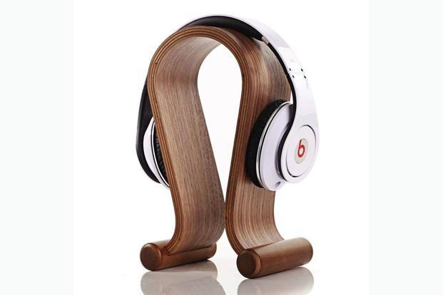 This handcrafted stand gives your headphones the respect they deserve, and reduces the clutter on your desk.