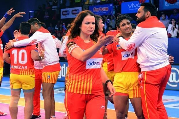 Oliwia Witek, head physiotherapist for the Gujarat Fortune Giants. Photo: Courtesy Pro Kabaddi League.