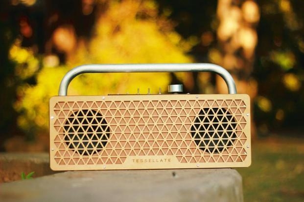 The Tessellate Bluetooth boombox.