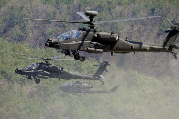 India bought 22 Apaches and 15 Chinook heavy-lift helicopters worth $3 billion for the Indian Air Force under a government-to-government deal with the US in 2015. File photo: AFP