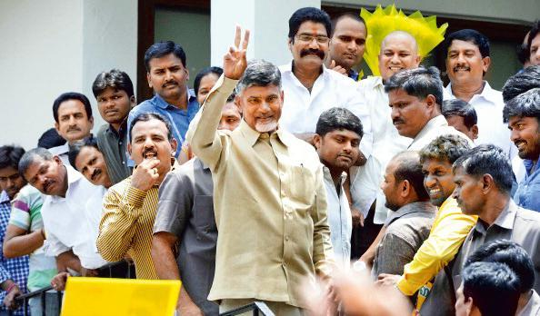 Telugu Desam Party chief Chandrababu Naidu. The by-election was held on 23 August