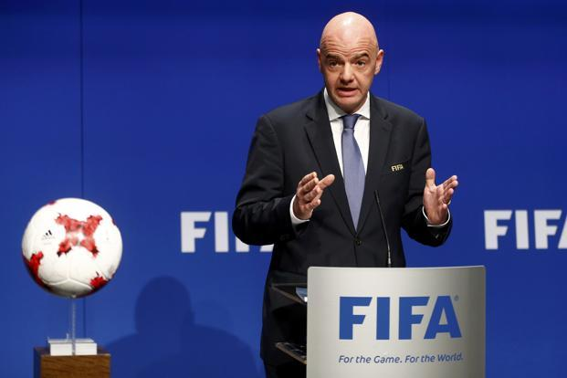 Gianni Infantino felt there is plenty of scope to develop football in India. Photo: Reuters