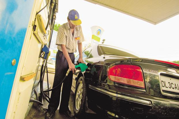 Retail price of petrol in India has gone up by Rs6 over the last month, an increase of nearly 10%. Photo: Ramesh Pathania/Mint
