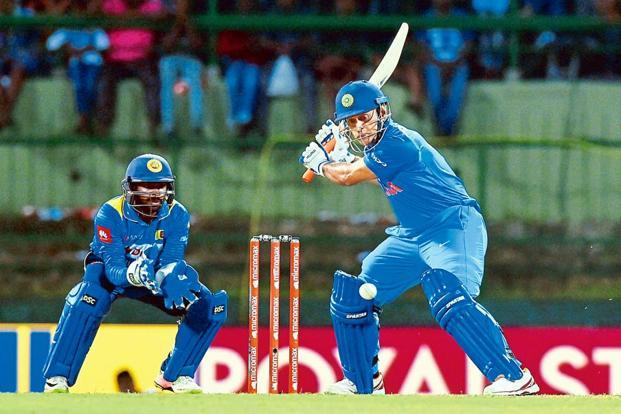 Mahendra Singh Dhoni is 392 short of scoring 10,000 runs in ODIs. Photo: PTI