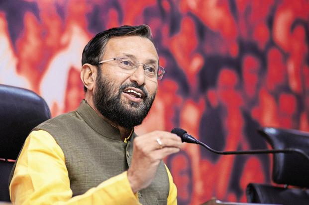 HRD minister Prakash Javadekar reminds students that fees at government funded institutes are low because the 'poor' are subsidising 'your education', hence they should stay indebted and remember those people who really paid for their education. Photo: Ramesh Pathania/Mint