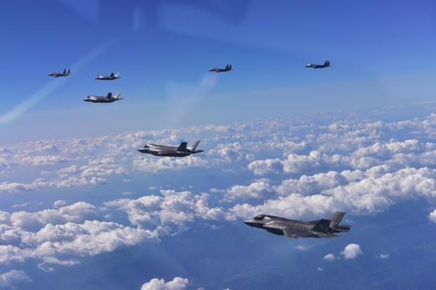 The drills involving four US stealth F-35B jets as well as South Korean and Japanese fighter jets came at the end of annual joint US-South Korea military exercises focused mainly on computer simulations