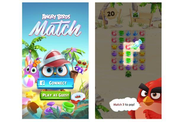 The Angry Birds Match is a match puzzle game on the lines of Candy Crush.