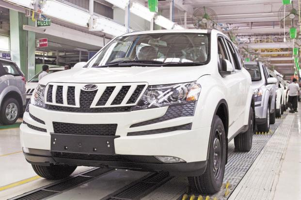 Mahindra & Mahindra's sales of passenger vehicles, including Scorpio, XUV500, Xylo, Bolero and Verito, were up 5.91% at 19,325 units as compared to 18,246 units in the same month last year. Photo: Bloomberg