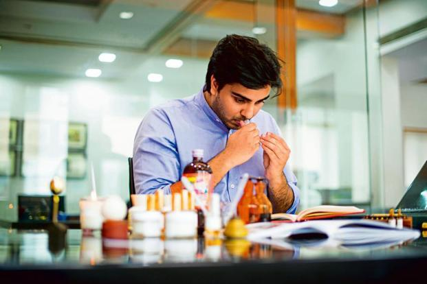 Manan Gandhi of Bombay Perfumery.Photo: Aniruddha Chowdhury/Mint