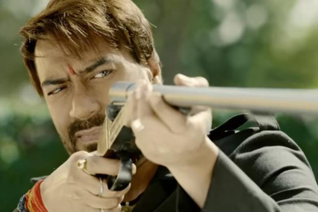 Ajay Devgn in a still from 'Baadshaho'.