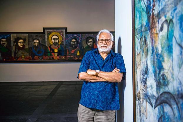 Manu Parekh at the National Gallery. Photo: Pradeep Gaur/Mint