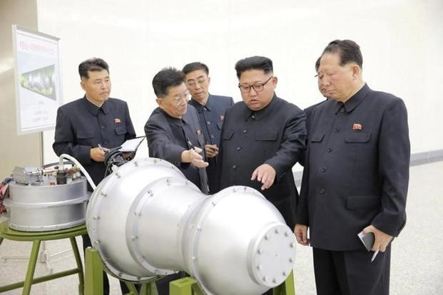 North Korean leader Kim Jong Un provides guidance on a nuclear weapons program in this undated photo released by North Korea's Korean Central News Agency (KCNA) in Pyongyang. Photo: Reuters