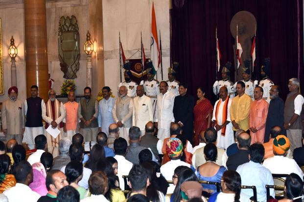 The third cabinet reshuffle of the Narendra Modi govt saw nine members added to the Union Cabinet. Photo: AFP