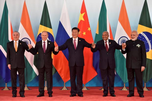 Brics nations (Brazil, Russia, India, China and South Africa) opened a summit Monday to map out their future course. Photo: Reuters