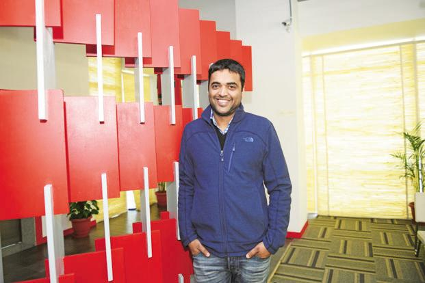 Zomato founder Deepinder Goyal. The online food ordering start-up start-up has been in the market to raise funds since the beginning of the year. Photo: Ramesh Pathania/Mint