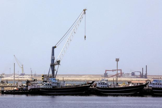 The Iran-India gas pipeline for LNG imports will start at the Chabahar port in that country and terminate at Porbandar in Gujarat. Photo: AFP