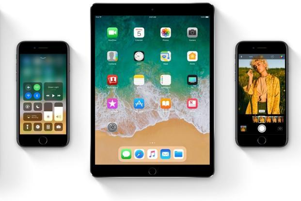 "The company calls iOS 11 ""a giant step for iPhone"" and ""a monumental leap for iPad""."