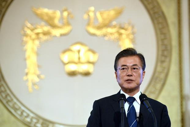 A file photo of South Korean President Moon Jae-In. Photo: Reuters