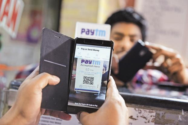 In India, about a fifth of the population now uses such payments, mostly through start-ups such as Paytm. Photo: Hemant Mishra/Mint
