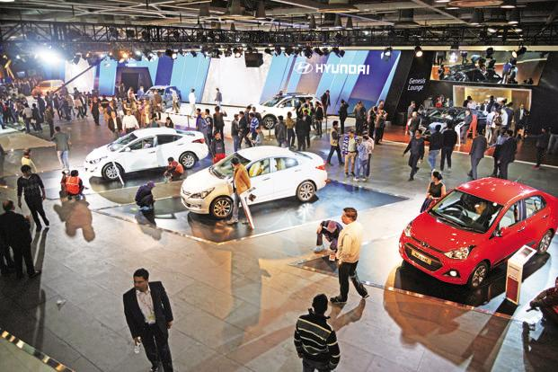 The  Auto Expo 2018 is scheduled to be held at Greater Noida in February. Royal Enfield, Bajaj Auto, and Harley-Davidson India had skipped the last edition citing cost issues. Photo: Ramesh Pathania/Mint
