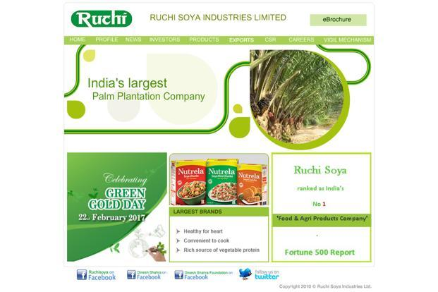 Ruchi Soya's primary lines of business include selling packaged edible oils and soyabean chunks, oilseed extraction, edible oil refining, and wind power generation.
