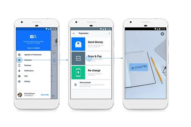 Truecaller has added a new feature which allows user to scan and dial a number written on a paper.