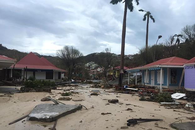 Hurricane Irma, one of the most powerful Atlantic storms on record, cut a deadly path through a string of small Caribbean islands on Wednesday. Photo: AFP