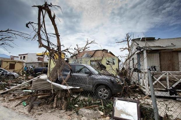 View of the aftermath of Hurricane Irma on Sint Maarten Dutch part of Saint Martin island in the Carribean on 7 September 2017. Photo: Reuters