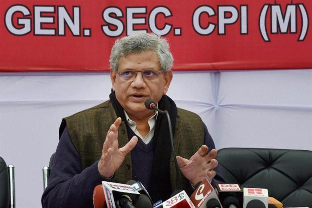 CPI(M) general secretary Sitaram Yechury. The CPI(M) draft resolution would be presented for adoption at the party congress, slated to be held in Hyderabad from 18-22 April 2018. Photo: PTI
