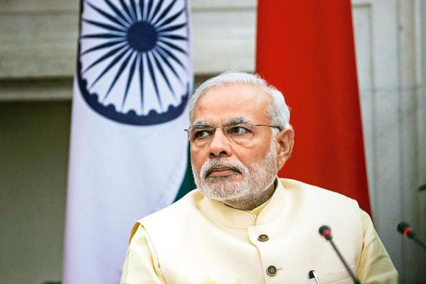 PM Narendra Modi will address students on 11 September, which will mark the 125th anniversary of Swami Vivekananda's participation at the Chicago Parliament of World Religions. It also marks the centenary celebrations of BJP's ideologue Deendayal Upadhyay. Photo: Bloomberg