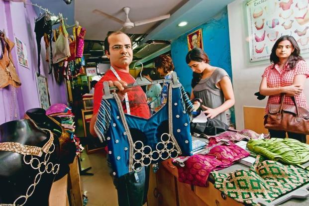 Vineet Kumar is the second-generation 'masterji' at Eve's Tailor in Greater Kailash-I, Delhi. Photo: Priyanka Parashar/Mint
