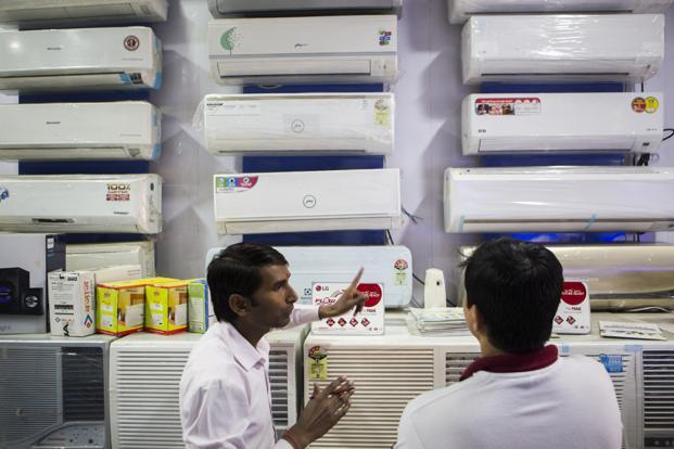 Refrigerator segment contributes around 55% to Godrej's turnover, followed by air conditioners (20%), washing machines (15%), microwaves (3%) and service revenue about 5%. Photo: Bloomberg